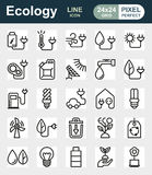 Eco icon set on white background. Created For Mobile, Web, Decor, Print Products, Applications. Icon . Vector illustration Stock Photos