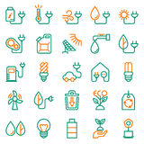 Eco icon set on white background. Created For Mobile, Web, Decor, Print Products, Applications. Icon . Vector illustration Stock Image