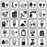 Eco icon set on white background. Created For Mobile, Web, Decor, Print Products, Applications. Icon . Vector illustration Royalty Free Stock Photo