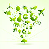 Eco icon tree Royalty Free Stock Images
