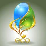 Eco-icona Fotografia Stock