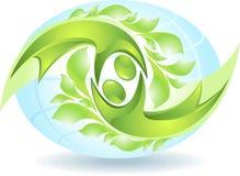 Eco-icono con los bailarines verdes Foto de archivo