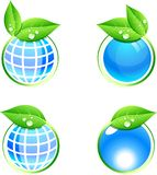 Eco icons. stock illustration
