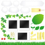 Eco icons. Set of eco icons. Vector illustration Stock Illustration