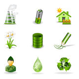 Eco icons 2 Royalty Free Stock Images