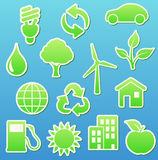 Eco icons stock illustration