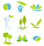 Eco icons Royalty Free Stock Image