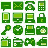 Eco icons royalty free illustration