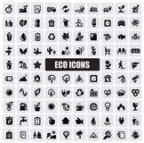 Eco icons. Vector green eco icons set on white Royalty Free Stock Image
