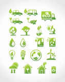 Eco icons. Royalty Free Stock Images