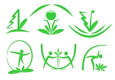 Eco icons, cdr vector Stock Photos