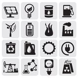 Eco icons for clean energy Stock Photos