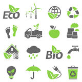 Eco icons. 16 Ecology icons. Vector illustration vector illustration