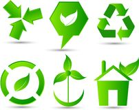 Eco icons or elements Royalty Free Stock Image