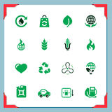 Eco icons | In a frame series Royalty Free Stock Photo