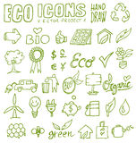 Eco icons hand draw 1. Eco icons hand draw project 1 Royalty Free Stock Photo
