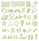 Eco icons hand draw 2 Royalty Free Stock Photography
