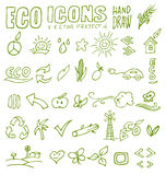 Eco icons hand draw 4 Royalty Free Stock Images