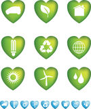 Eco icons heart Royalty Free Stock Photos