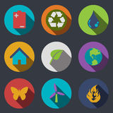 Eco icons. Modern flat Eco icons. Vector illustration Royalty Free Stock Images