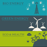 Eco icons. Over colors background vector illustration vector illustration