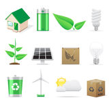 Eco icons set Stock Image