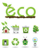 ECO icons set Royalty Free Stock Photos