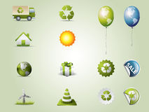 Eco icons set Royalty Free Stock Image