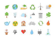 Eco  icons set. Set of 24 Eco  icons Stock Photo