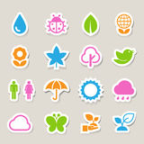 Eco icons set. Elements of this image furnished by NASA Stock Photos