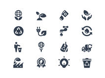 Eco icons. Set of environmental and eco icons Stock Images