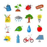 Eco icons set Stock Images