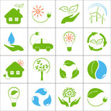 Eco icons Royalty Free Stock Images