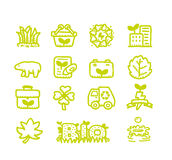 Eco Icons Royalty Free Stock Photos