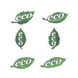 Eco icons 1. Set of natural labels. Eco icons Stock Images