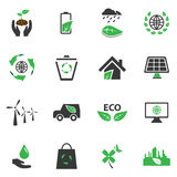 Eco icons set  symbol, website browser. Royalty Free Stock Images