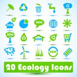 Eco icons set. Use for business Royalty Free Stock Photos