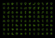 Eco icons set Royalty Free Stock Photography