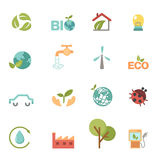 Eco icons set vector Stock Photo
