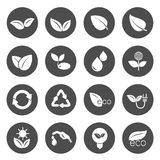 Eco Icons set. Vector illustration Stock Images