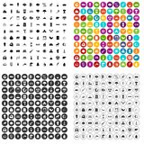 100 eco icons set vector variant. 100 eco icons set vector in 4 variant for any web design isolated on white Stock Photos