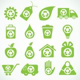 20 eco icons Royalty Free Stock Image