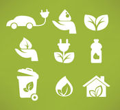 Eco icons and symbols Royalty Free Stock Image