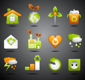 Eco icons. Vector set of Eco icons Stock Photography