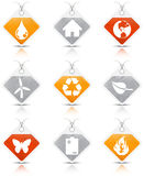 Eco icons. Vector set of Eco icons Royalty Free Stock Photography