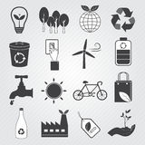 Eco Icons Vector Set. Go green for eco icons set vector illustration
