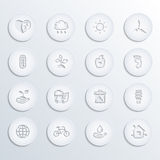 Eco icons vector set (paper) Royalty Free Stock Photos