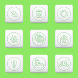 Eco icons, web buttons Stock Image