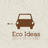 Eco ideas. Over pattern background vector illustration Stock Image