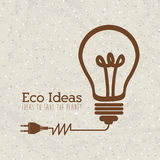 Eco ideas. Over pattern background vector illustration Royalty Free Stock Photography
